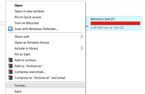 Steps to use SD Card as RAM in Windows 10, 8, 7, 8.1, XP