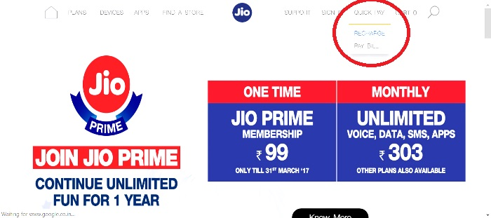 Jio Prime Registration