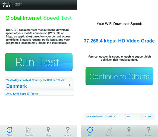 Best WiFi Speed Test Apps For iPhone-Speedtest-Cisco-GIST