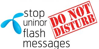 stop uninor flash messages