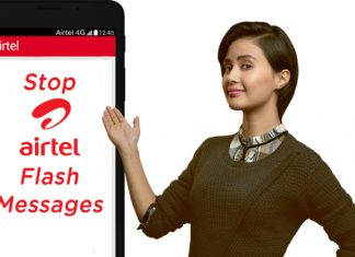 Stop Airtel Live Flash Messages