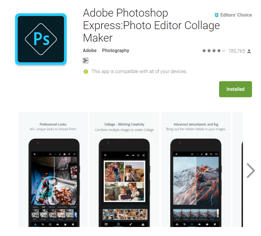 Professional Photo Editor For Android